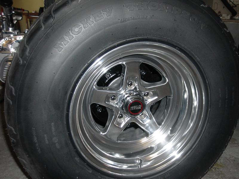 ALL TIRES MOUNTED WITH MICKEY THOMPSON NAME ACROSS FROM VALVE STEM.